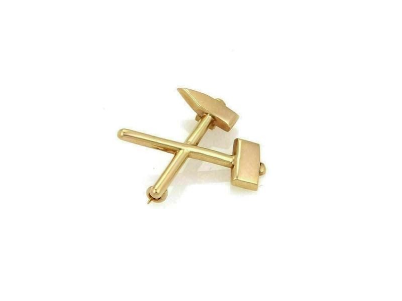 Tiffany & Co. Hammer & Chisel 18k Rose Gold Brooch Pin