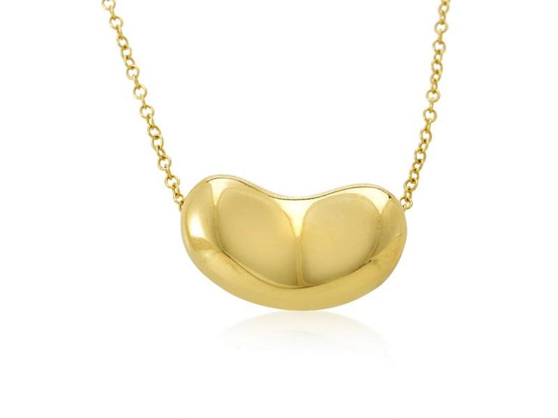 Tiffany & Co. Elsa Peretti 18K Yellow Gold Bean Pendant Necklace