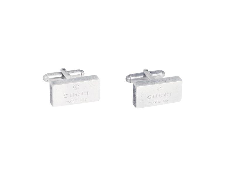 Gucci 925 Sterling Silver Trademark Cufflinks