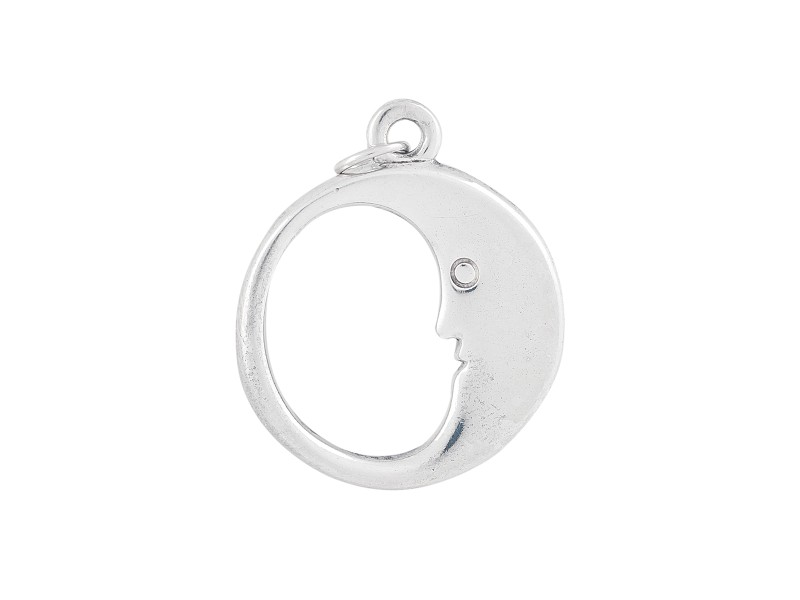Tiffany & Co. Sterling Silver Man in the Moon Pendant