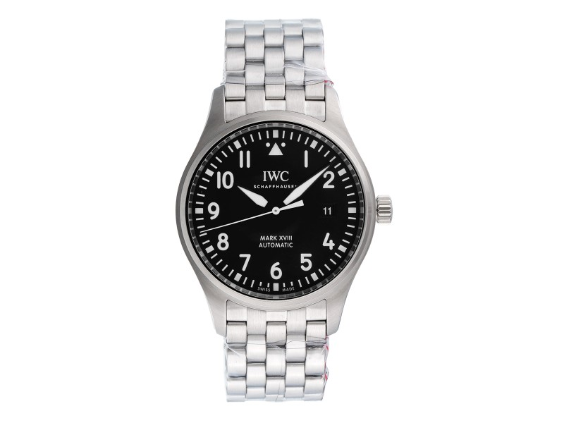 IWC Pilot IW327011 Stainless Steel & Black Dial Automatic 40mm Mens Watch