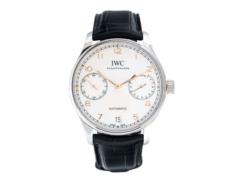 IWC Portugieser IW500704 Stainless Steel Automatic 42.3mm Mens Watch