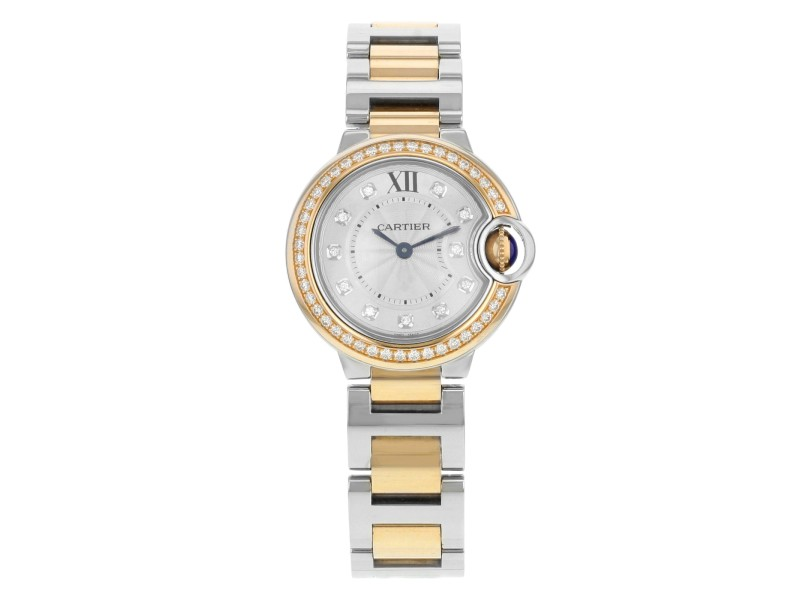Cartier Ballon Bleu WE902076 Steel & 18K Rose Gold Quartz Ladies Watch