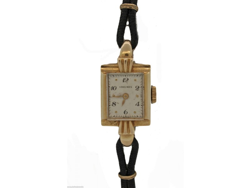 Longines 17 Jewel Solid 14K Yellow Gold Vintage Watch