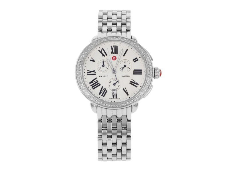 Michele Serein Diamond MWW21A000001 Stainless Steel Quartz Womens Watch
