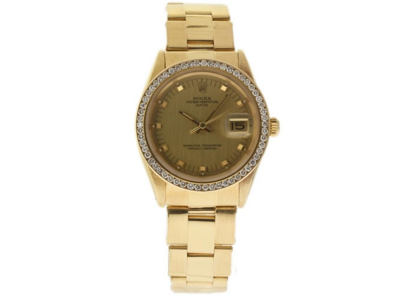 Rolex Date 1510 34mm Vintage Mens Watch