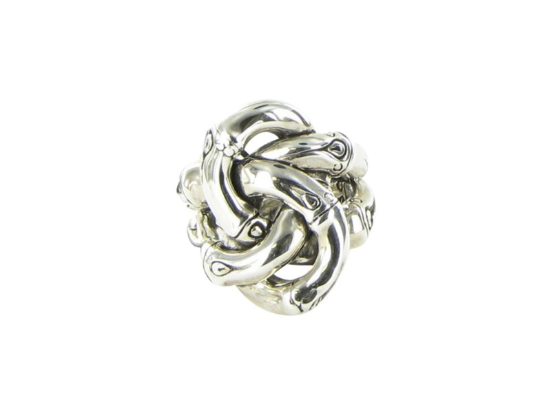 John Hardy Bamboo 925 Sterling Silver Knot Ring Size 7