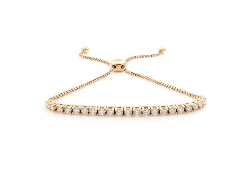 Rachel Koen 14K Rose Gold Slider Diamond 0.50cts Bracelet