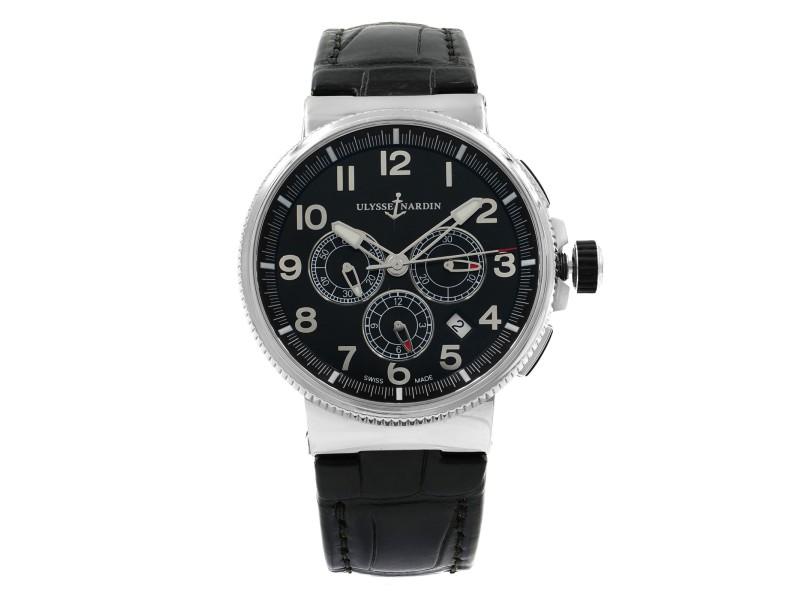 Ulysee Nardin Marine Black Arabic Dial Steel Automatic Mens Watch 1503-150/62