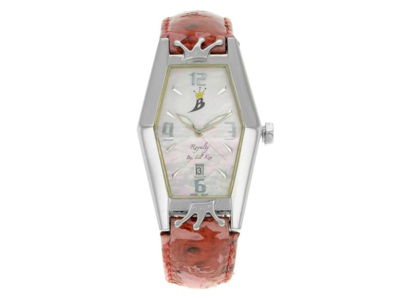 Royalty by Lil Kim Steel MOP Sticks Date Dial Quartz Ladies Watch LK005