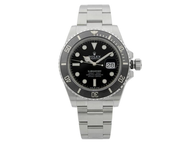 Rolex Submariner Date 41MM Steel Ceramic Black Dial Mens Watch 126610LN