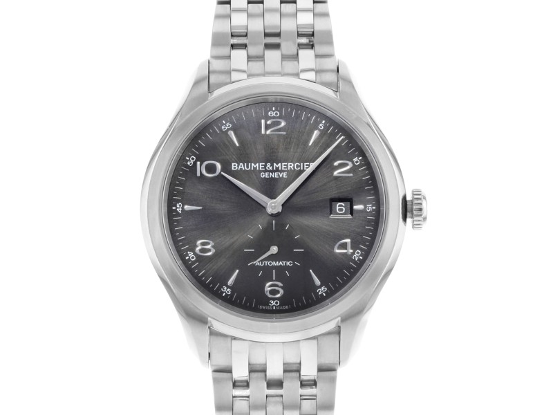 Baume et Mercier Clifton Black Round Dial Steel Automatic Men's Watch MOA10100