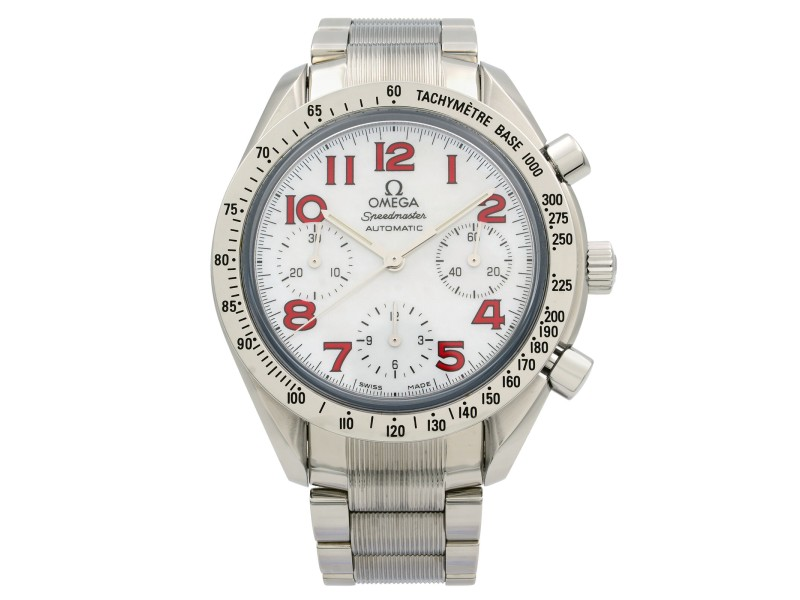Omega Speedmaster Reduced Steel MOP Dial Automatic Unisex Watch 3534.79.00
