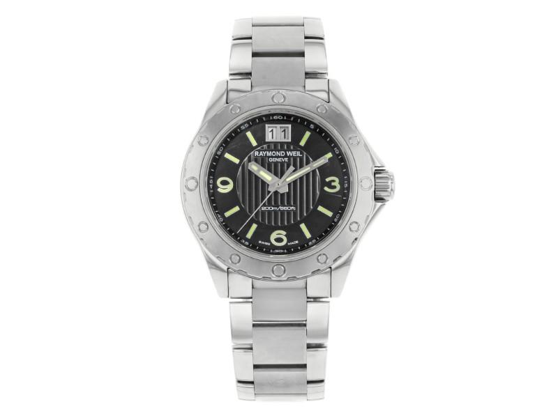 Raymond Weil Sport Black Dial Analog Steel Quartz Mens Watch 8150-ST-05207