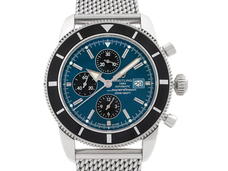 Breitling Superocean Heritage Steel Blue Dial Mens Watch A1332024-C817SS
