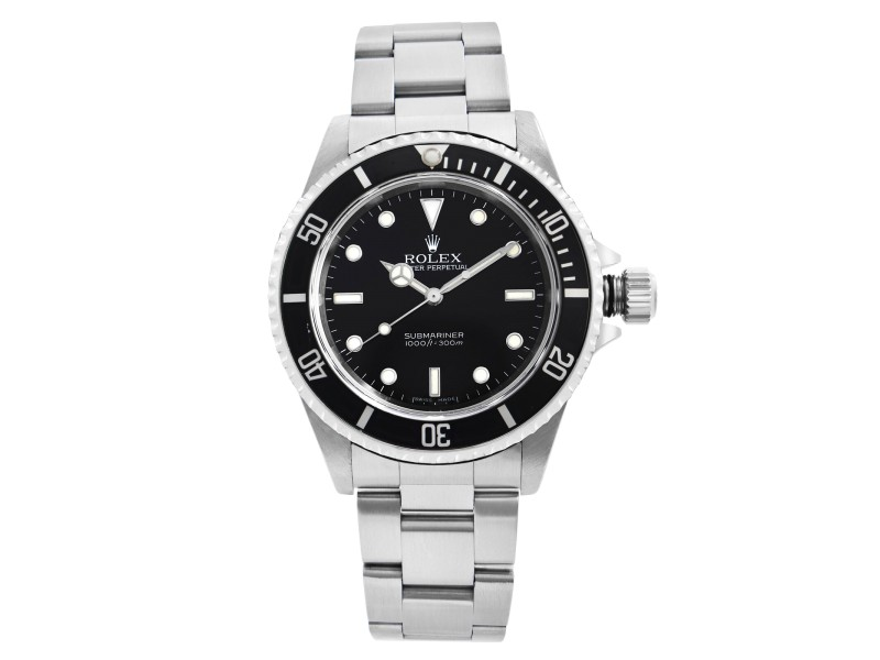 Rolex Submariner 40mm No-Date Steel Black Dial Automatic Mens Watch 14060M