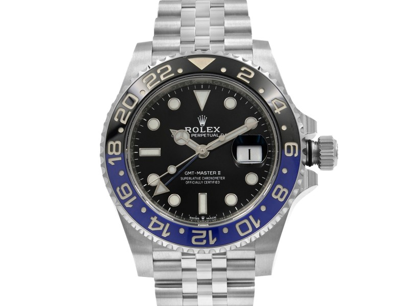 Rolex GMT-Master II Batman Steel Black Dial Automatic Mens Watch 126710