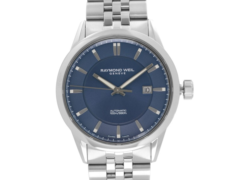 Raymond Weil Freelancer Steel Blue Dial Automatic Mens Watch 2731-ST-50001