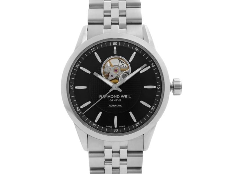 Raymond Weil Freelancer Steel Black Dial Automatic Mens Watch 2710-ST-20021