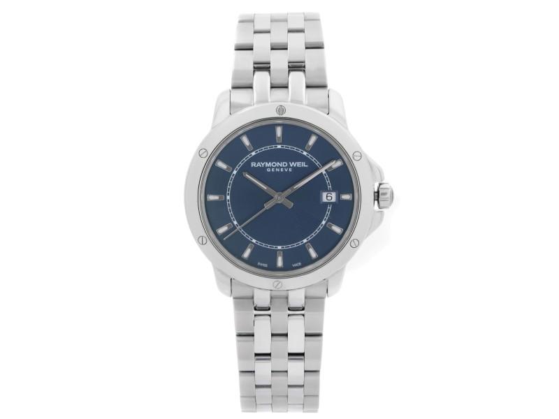 Raymond Weil Tango Stainless Steel Blue Dial Quartz Mens Watch 5591-ST-50001