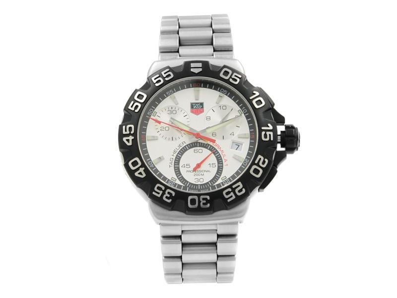 TAG Heuer Formula One F1 Chrono Steel Silver Dial Quartz Watch CAH1111.BA0850