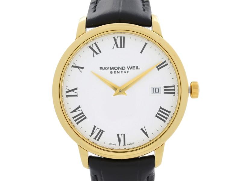 Raymond Weil Toccata Gold-Tone Steel White Dial Quartz Mens Watch 5488-PC-00300