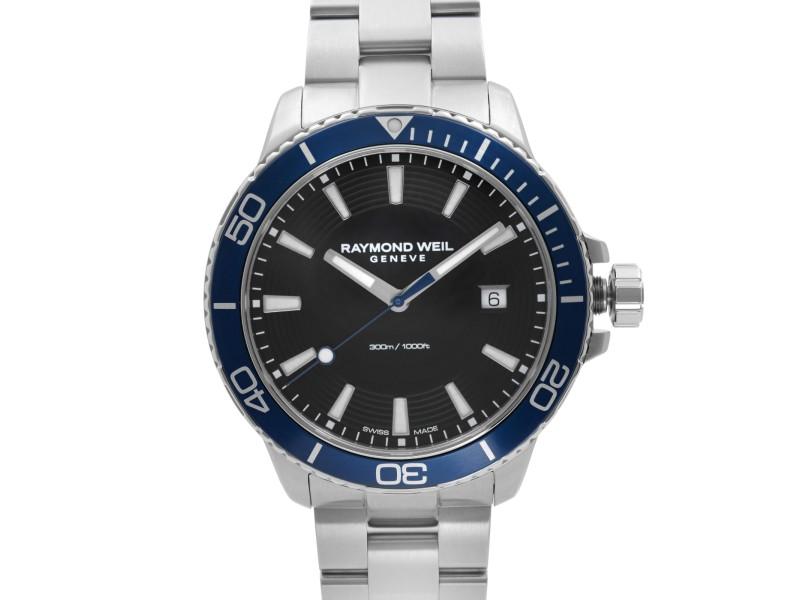 Raymond Weil Tango Stainless Steel Black Dial Quartz Mens Watch 8260-ST3-20001