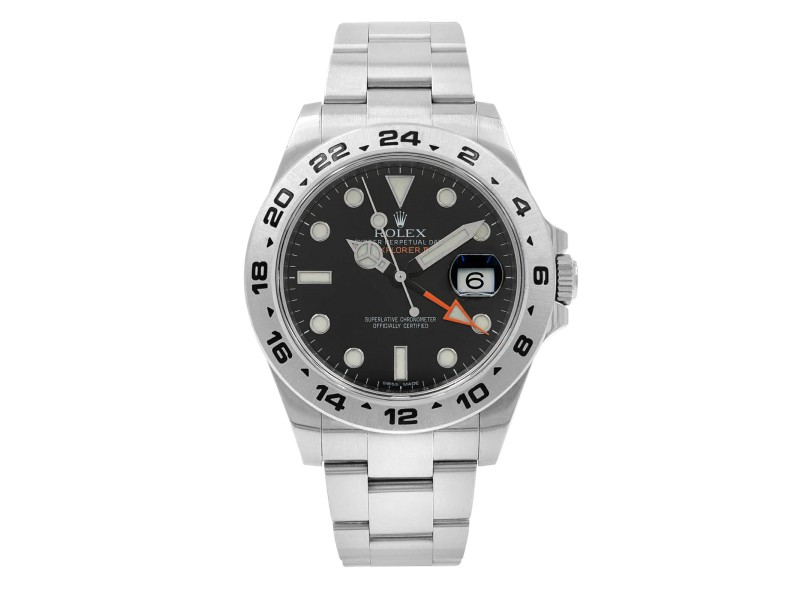 Rolex Explorer II GMT 42mm Stainless Steel Black Dial Automatic Men Watch 216570