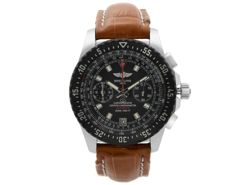 Breitling Skyracer Raven 43.5mm Steel Black Dial Automatic Mens Watch A27364