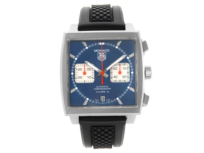 Tag Heuer Monaco Chronograph Blue Dial Automatic Mens Watch CAW2111.FC6183