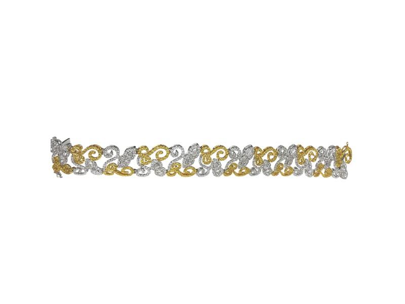 Yellow Gold and White Gold Diamond Bracelet