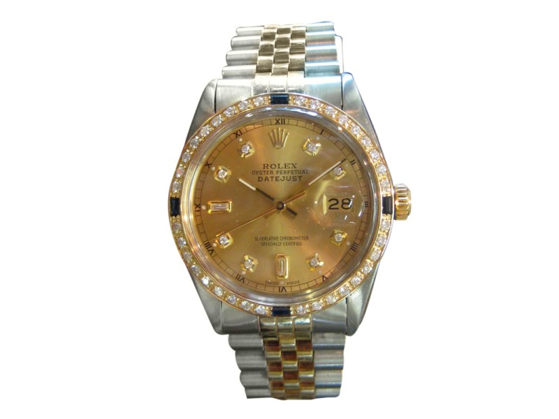 Rolex Oyster Perpetual Datejust Diamonds Yellow Gold & Stainless Steel Watch
