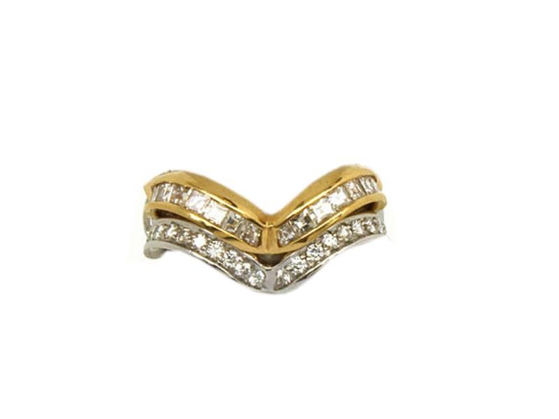 Alfieri & St John 18k Gold Diamond Wave Rings