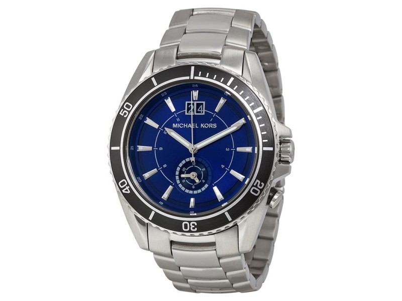 Michael Kors MK8400 Jetmaster Blue Dial Stainless Steel Mens Watch