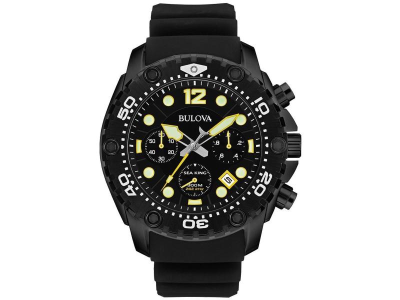Bulova 98B243 Black IP Stainless Steel 48mm Mens Watch