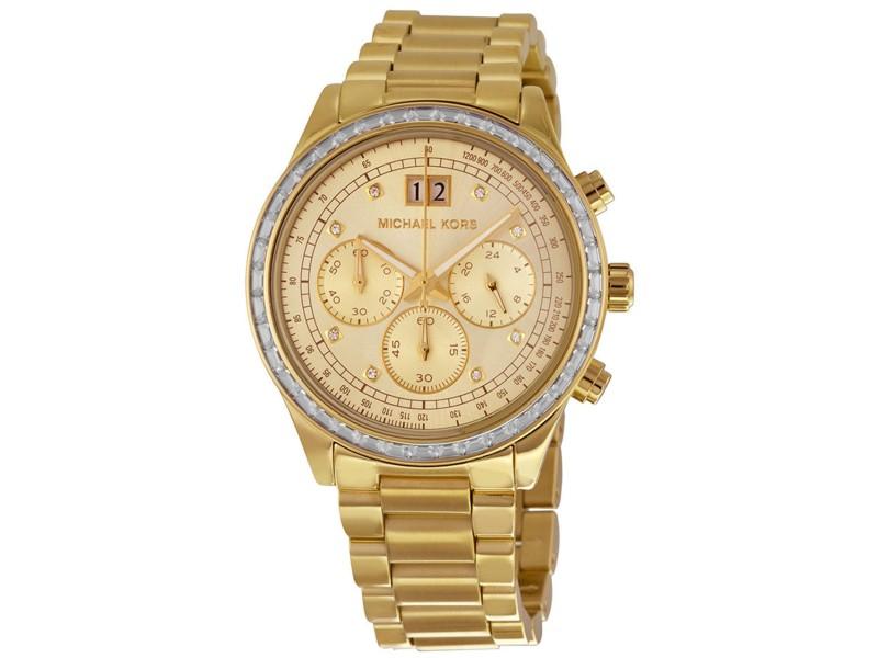 Michael Kors Brinkley MK6187 Gold Tone Stainless Steel 40mm Womens Watch