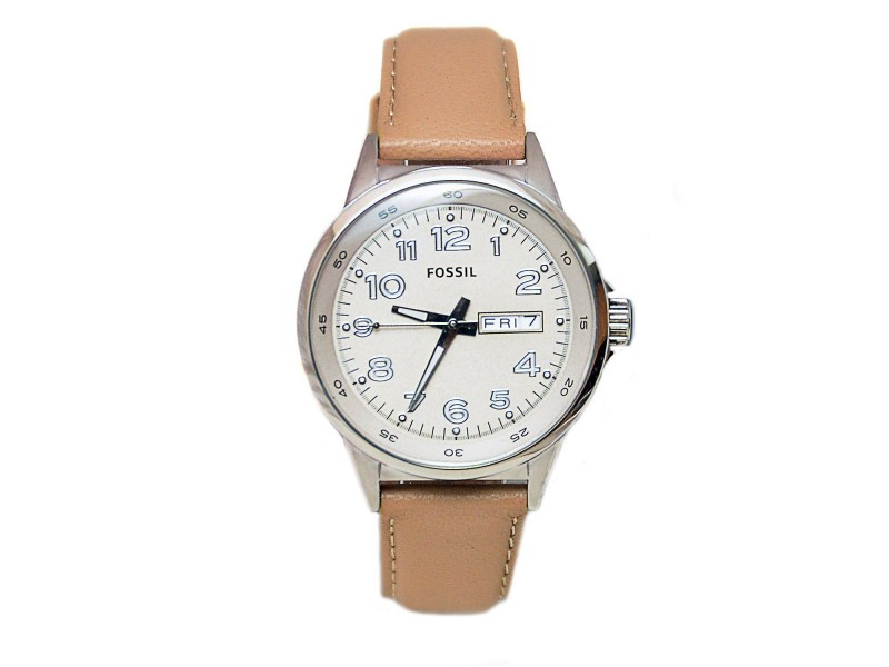Fossil AM4433 Stainless Steel & Leather Quartz 38mm Womens Watch