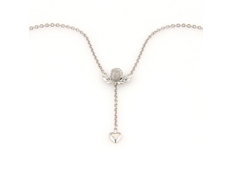 Carrera y carrera 18k white gold angel with heart pendant necklace carrera y carrera 18k white gold angel with heart pendant necklace aloadofball Image collections