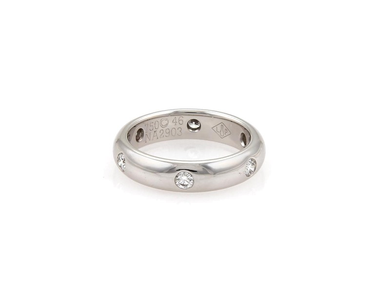 Cartier Stella 18K White Gold with 0.30ctw. Diamond Band Ring Size 3.75
