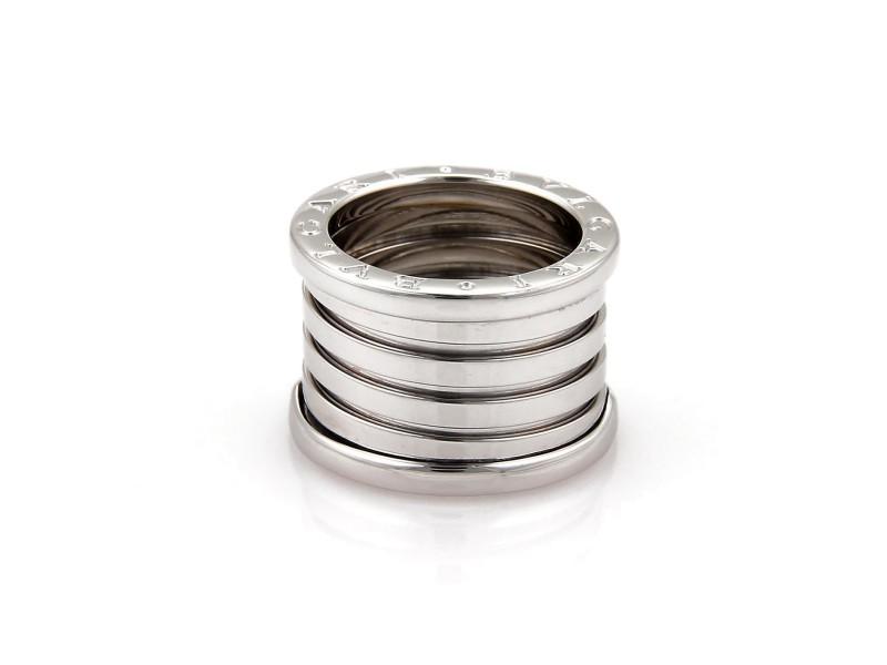 Bulgari B Zero-1 18K White Gold Band Ring Size 7
