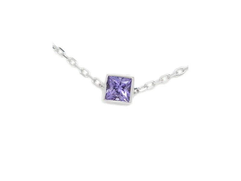 Gucci 18k White Gold with Amethyst Pendant Necklace