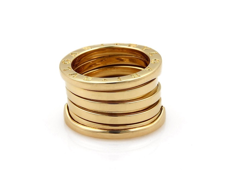 Bulgari B Zero-1 18K Yellow Gold 13mm Band Ring Size 5