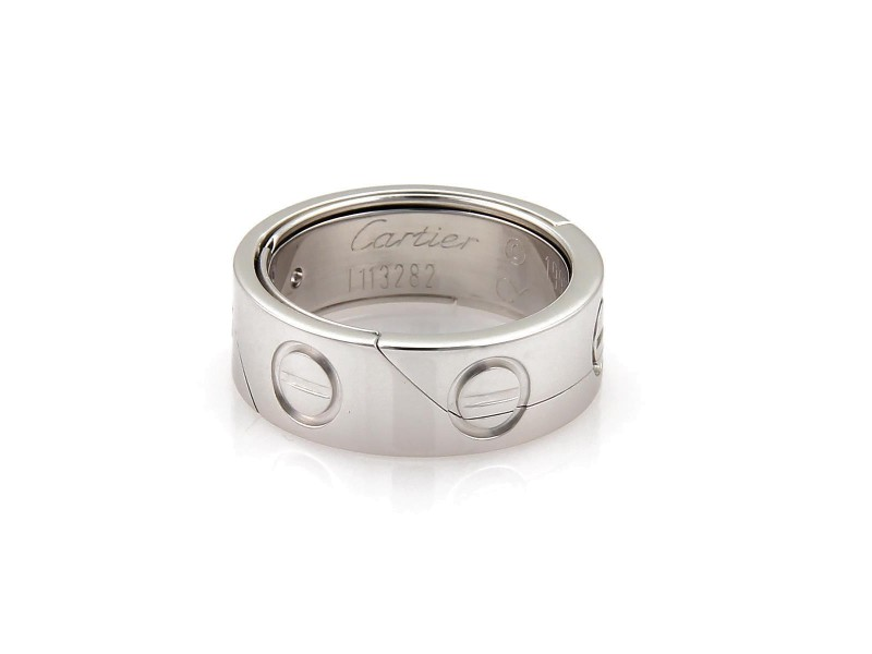 Cartier Ring 18k White Gold Size 6