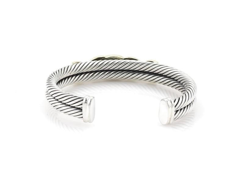 David Yurman Cable Sterling Silver Amethyst Bracelet