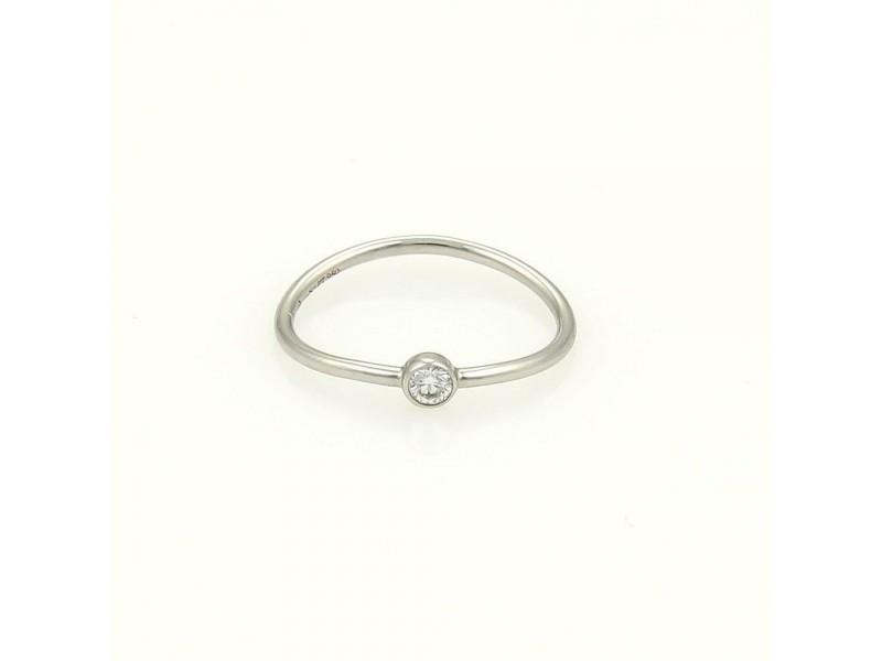 e400ea1f2 Tiffany & Co.Elsa Peretti Diamond Platinum Single Row Wave Band Ring Size  5.5