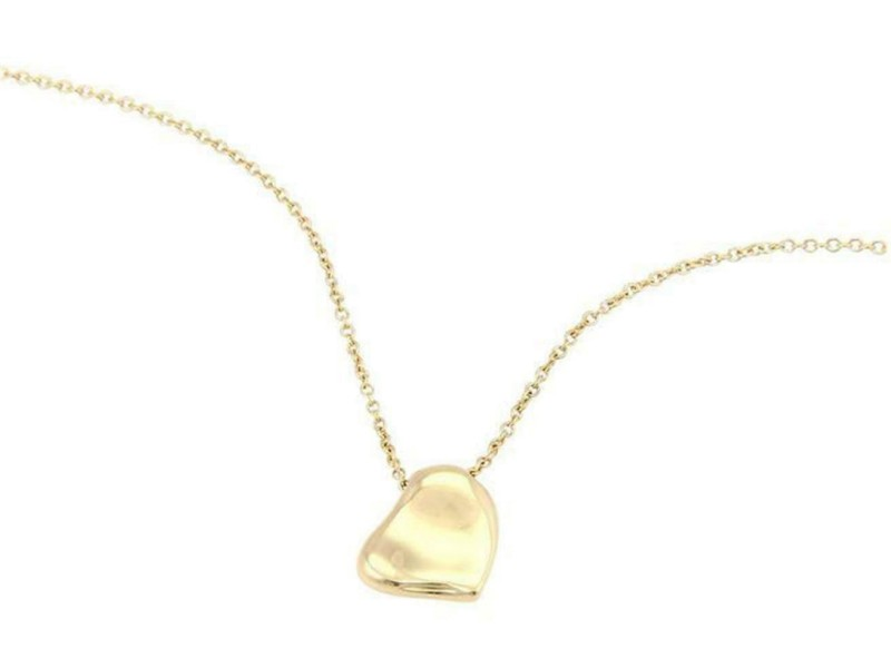 713a33fd4 Tiffany & Co. Peretti 14k Yellow Gold Full Curved Heart Pendant Necklace