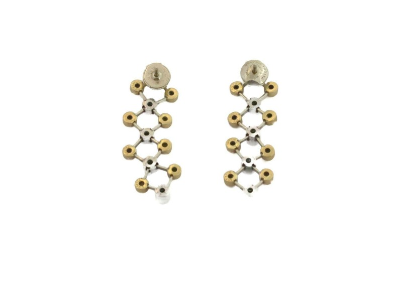 Tiffany & Co. Picasso Diamond 18k Yellow Gold Platinum Geometric Dangle Earrings