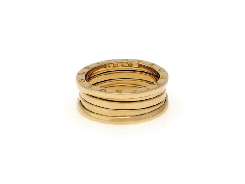 Bvlgari Bulgari B Zero-1 18k Yellow Gold 8mm Band Ring Size EU 59-US 8.75