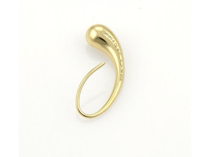 Tiffany & Co. 18k Yellow Gold Tear Drop Hook Dangle Earrings