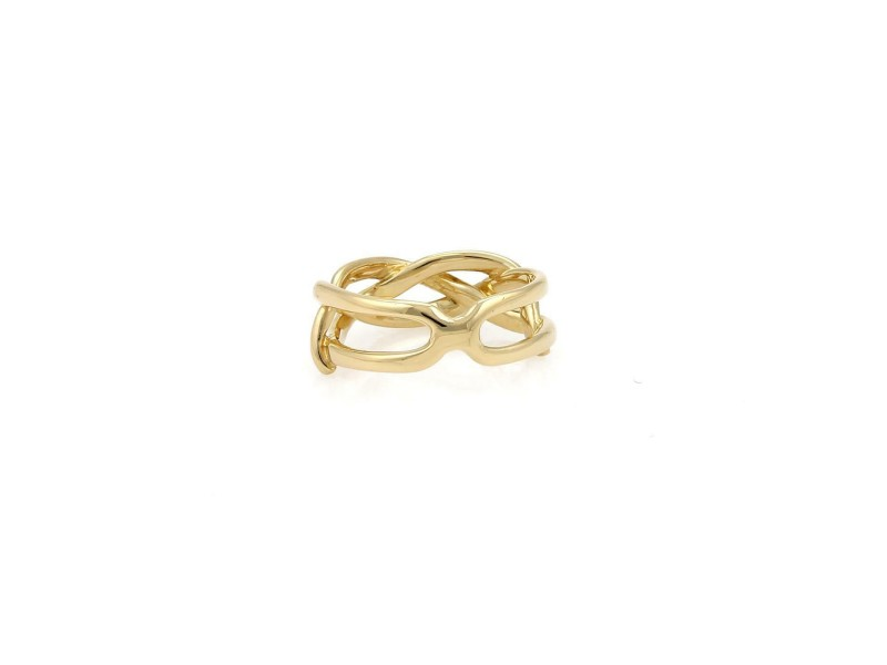Tiffany & Co. Vintage 18k Yellow Gold Open Braided Band Ring Size 4.5